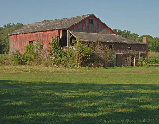 An old barn in Bartholomew county, Indiana