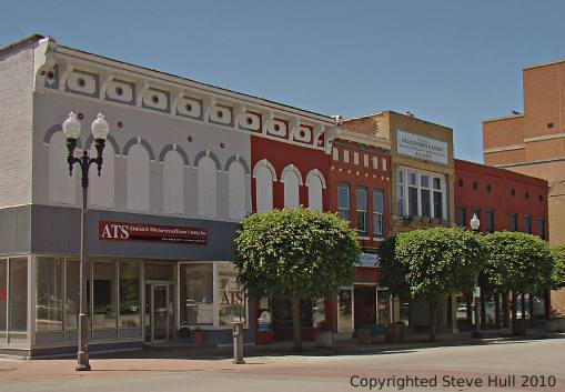 Commerical buildings on courthouse square in Lebanon Indiana
