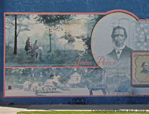 building mural in Frankfort Indiana