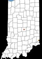 Indiana Map Showing Aurora