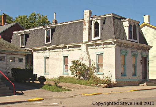 Old houses in aurora indiana for French mansard roof