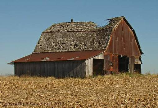 An old dilapidated barn.
