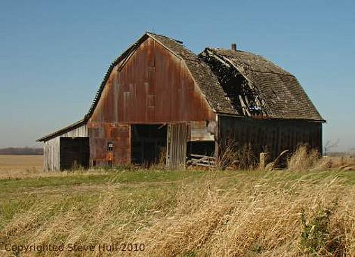 An old decaying barn in Decatur county, Indiana.