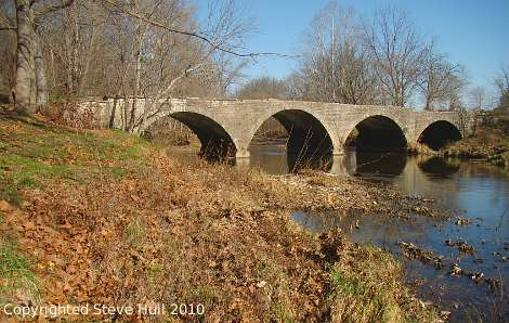 Champ's Ford Stone Arch Bridge in Decatur County Indiana