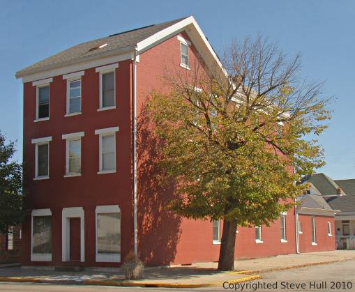 Old Federal styled building in Brookville Indiana