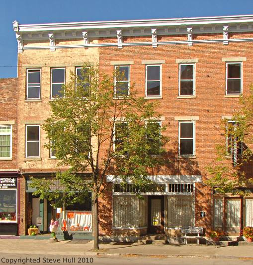 Italianate commercial buildings in Brookville Indiana