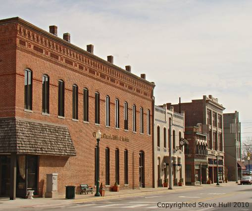 Old commercial buildings in Noblesville Indiana