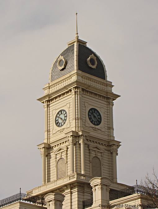 Courthouse tower in Noblesville Indiana
