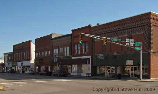 Old commercial buildings in Knightstown Indiana