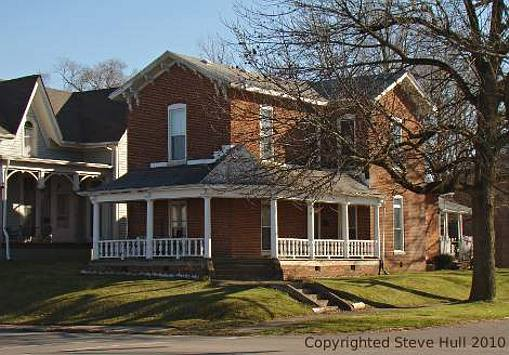 Italianate house in Knightsttown Indiana