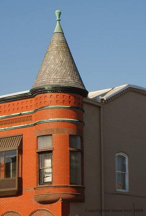 Morgan building tower in Knightstown Indiana