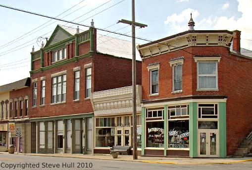 Commercial buildings & opera house in Lewisville Indiana