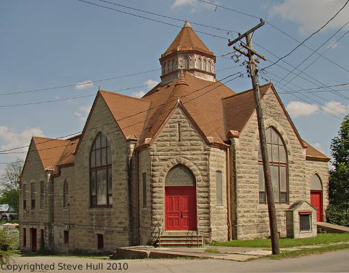 old Methodist  Episcopal chur in Lewisville Indiana
