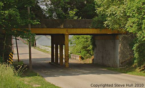 Railroad overpass in Lewisville Indiana