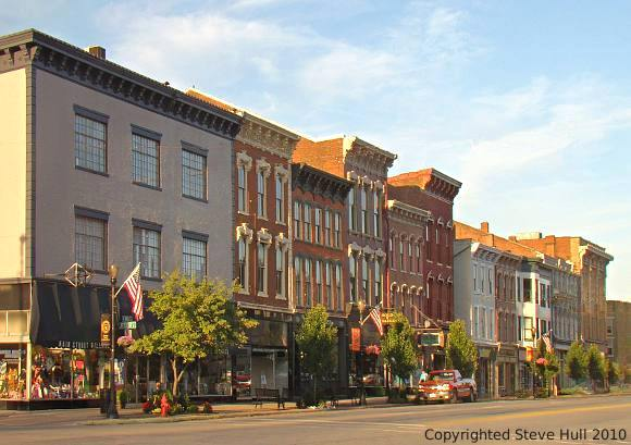 Main street commercial buildings in Madison Indiana