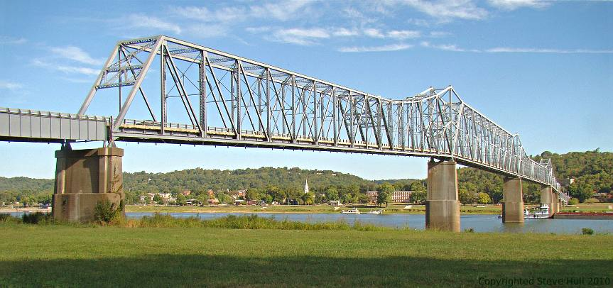 Ohio river bridge at Madison Indiana