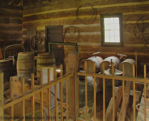 Interior of pioneer distillery