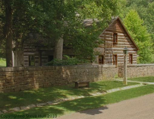 Lower Residence log cabin