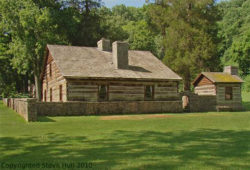 Lower Residence Hamer log cabin