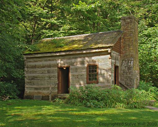 Pottery cabin at Spring Mill Village