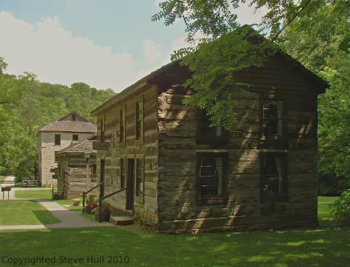 Pioneer tavern at Spring Mill state park