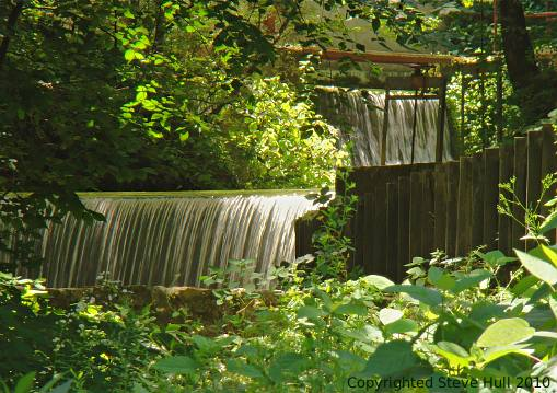 Waterfalls at Spring Mill State Park in Indiana