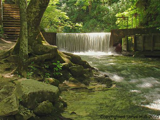 Lower Water Falls at Spring Mill Village in Indiana