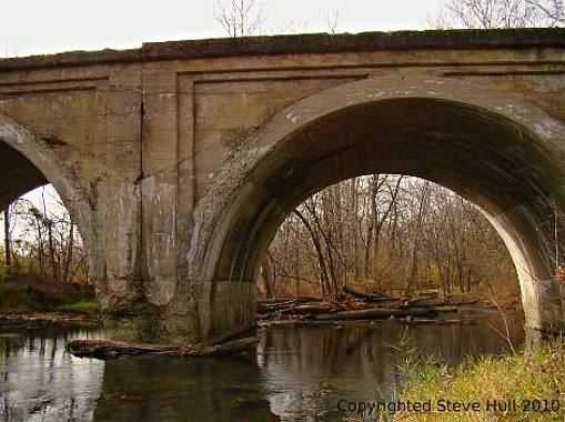 Old concrete arch railroad viaduct