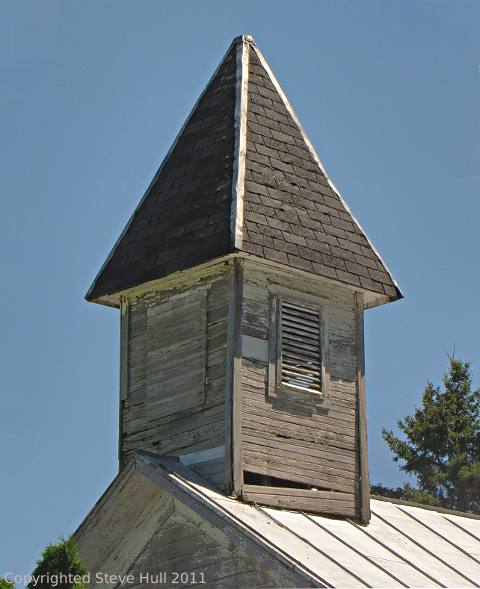 Closeup view of the church cupola
