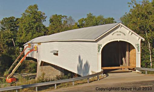 New Moscow covered bridge nearly completed