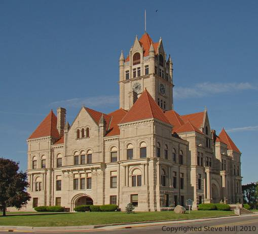 Rush county Indiana courthouse