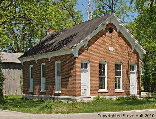 An old rural school in Shelby county Indiana
