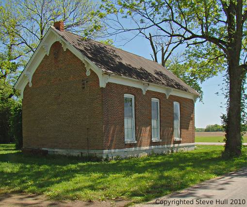 A small rural school house in Shelby county Indiana