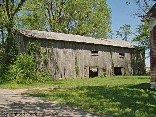 An old barn in Shelby county Indiana