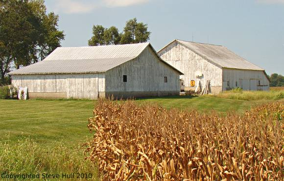 Two barns in Shelby county Indiana